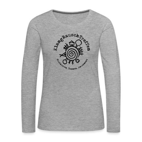 KlangRauschTreffen Logo mit Schrift rund - Frauen Premium Langarmshirt