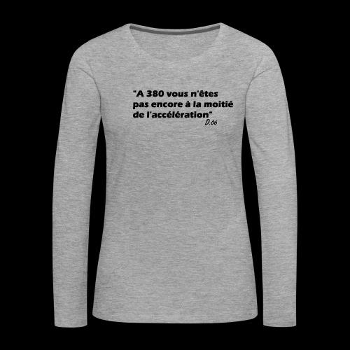 380 noir - T-shirt manches longues Premium Femme