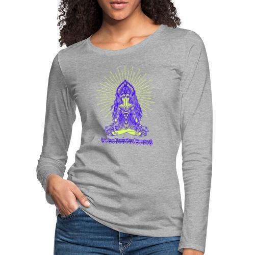 Yogafashion Hippie Ganesha dein Glücksgott - Frauen Premium Langarmshirt