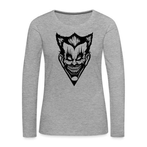 Horror Face - Frauen Premium Langarmshirt