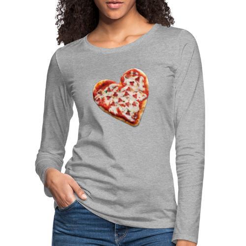 Pizza a cuore - Maglietta Premium a manica lunga da donna