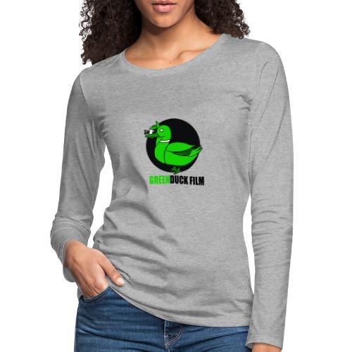 Greenduck Film Logo w. black letters - Dame premium T-shirt med lange ærmer