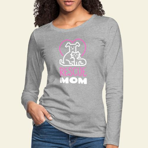 Rescue Mom - Naisten premium pitkähihainen t-paita