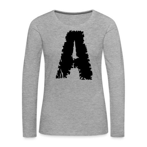 Zombie , Schriftart , - Frauen Premium Langarmshirt