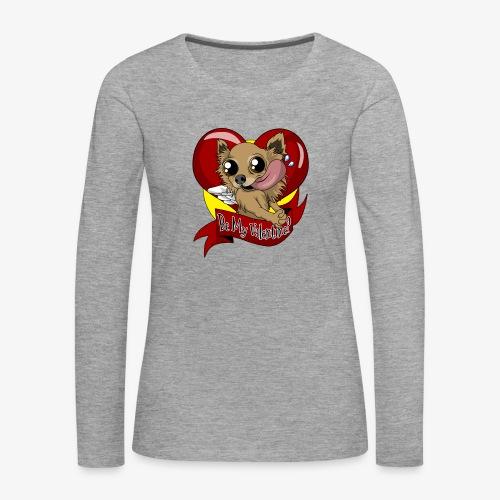 Engla Be my valentine? - Långärmad premium-T-shirt dam