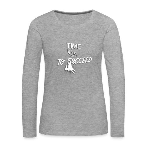 Het tijd - Vrouwen Premium shirt met lange mouwen