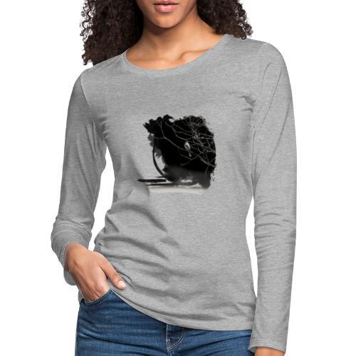 bird in zen circle above water bird on branch Zen - Women's Premium Longsleeve Shirt