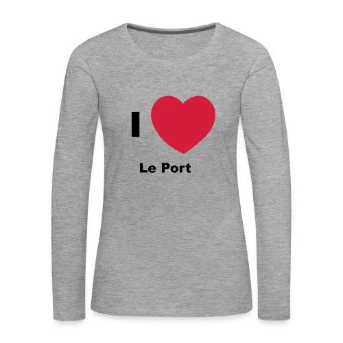 i love le port - T-shirt manches longues Premium Femme
