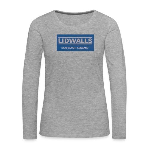 Lidwalls Stålbåtar - Långärmad premium-T-shirt dam