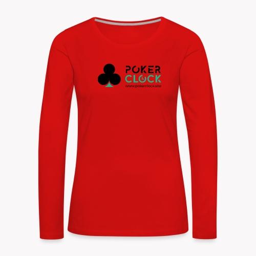 Poker Clock Logo - Frauen Premium Langarmshirt