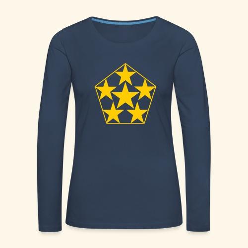 5 STAR gelb - Frauen Premium Langarmshirt