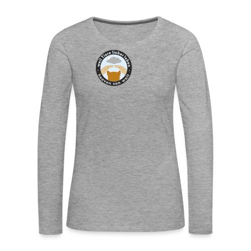 150411-kreis-schwarz - Frauen Premium Langarmshirt
