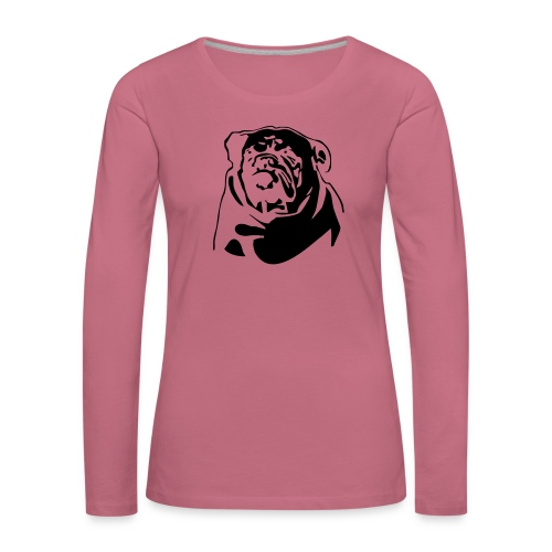 English Bulldog - negative - Naisten premium pitkähihainen t-paita