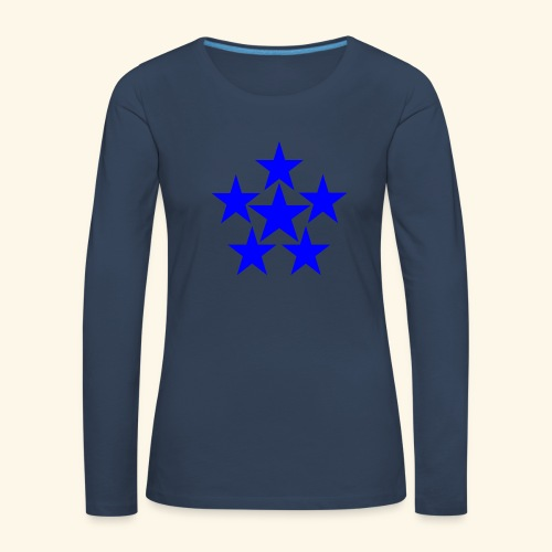 5 STAR blau - Frauen Premium Langarmshirt