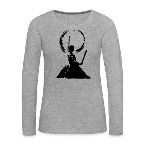 Odaiko Trommler - Frauen Premium Langarmshirt