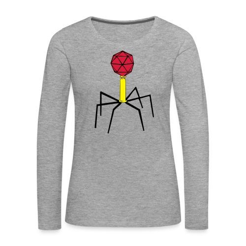 Bakteriophage für Flock- und Flexdruck! - Frauen Premium Langarmshirt