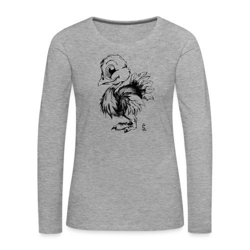 Autruchon - T-shirt manches longues Premium Femme