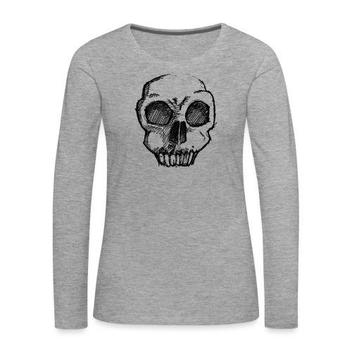 Skull sketch - Women's Premium Longsleeve Shirt