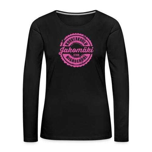 77P-JAKOMÄEN KORKEAKOULU - Stadi, Helsinki - Naisten premium pitkähihainen t-paita