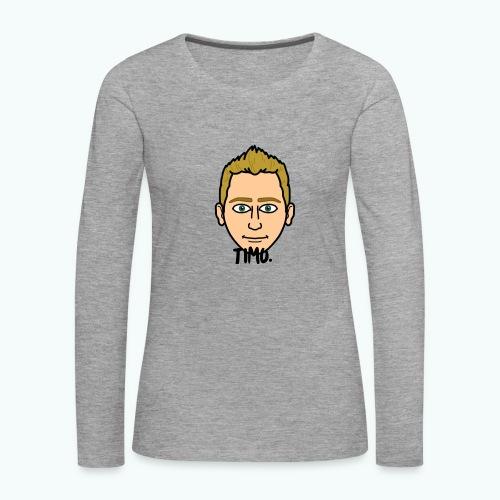 Logo TIMO. - Vrouwen Premium shirt met lange mouwen