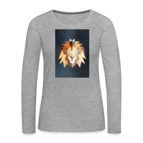 Polygon Lion - Frauen Premium Langarmshirt