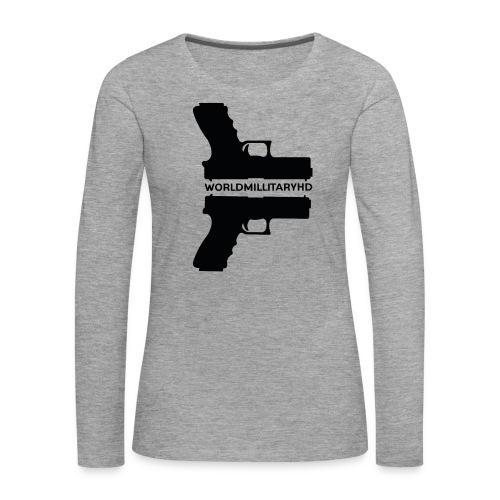 WorldMilitaryHD Glock design (black) - Vrouwen Premium shirt met lange mouwen