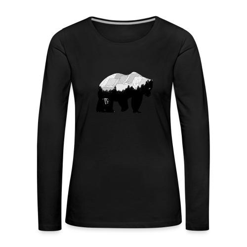 Geometric Mountain Bear - Maglietta Premium a manica lunga da donna