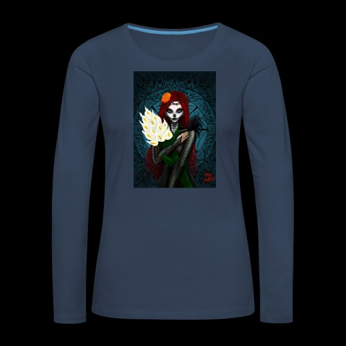 Death and lillies - Women's Premium Longsleeve Shirt