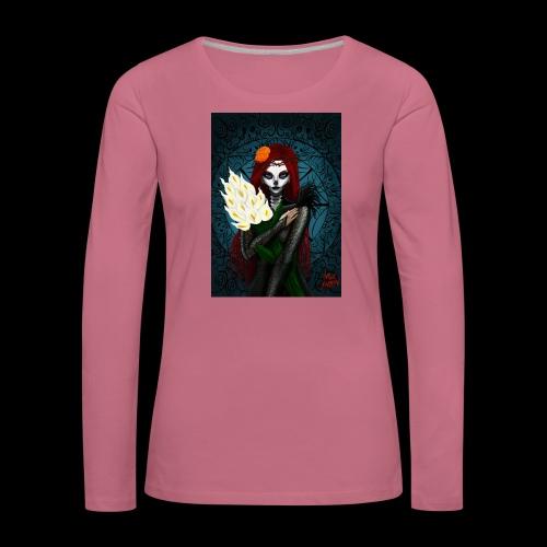 Death and lillies - Women's Premium Longsleeve Shirt