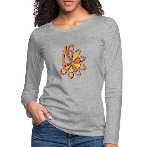 spicchi di sole caldo multicolore - Maglietta Premium a manica lunga da donna