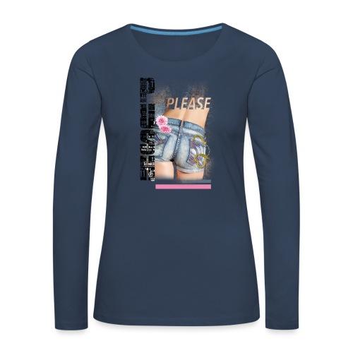 backgirl - Maglietta Premium a manica lunga da donna