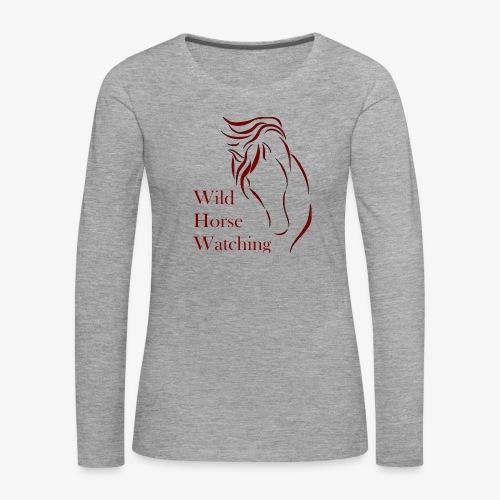 Logo Aveto Wild Horses - Maglietta Premium a manica lunga da donna