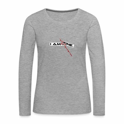 I AM FINE Design mit Schnitt, Depression, Cut - Frauen Premium Langarmshirt