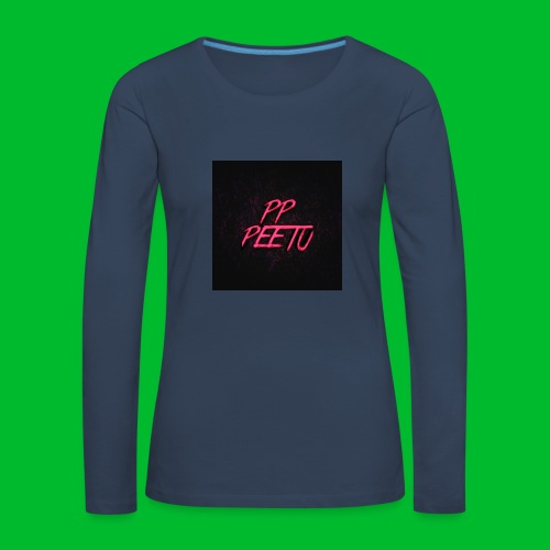 Ppppeetu logo - Naisten premium pitkähihainen t-paita