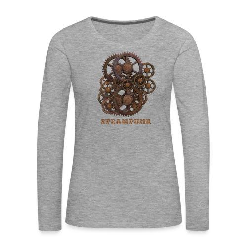 Steampunk Zahnräder - Frauen Premium Langarmshirt