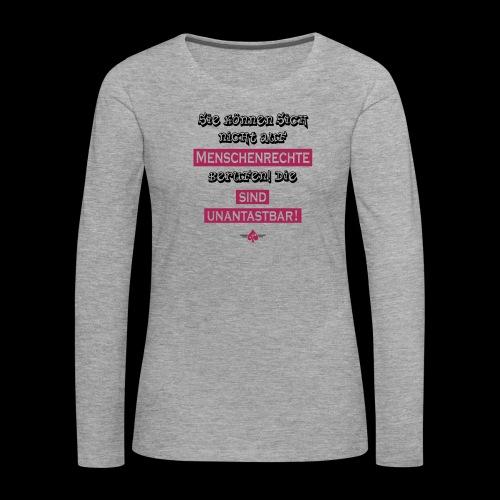Menschenrechte - Frauen Premium Langarmshirt