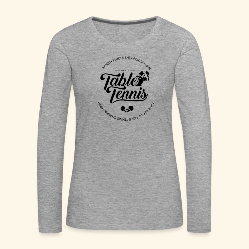 Key to Table tennis championship - Frauen Premium Langarmshirt