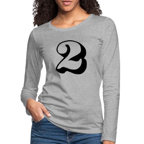 cool number 2 - Vrouwen Premium shirt met lange mouwen