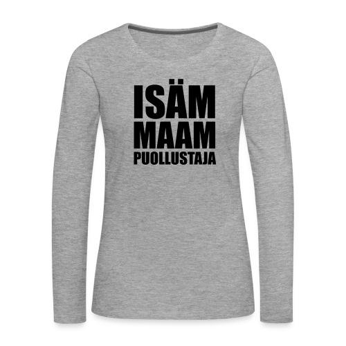 PuollustajaB - Naisten premium pitkähihainen t-paita