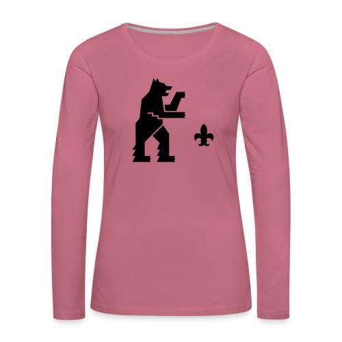 hemelogovektori - Naisten premium pitkähihainen t-paita