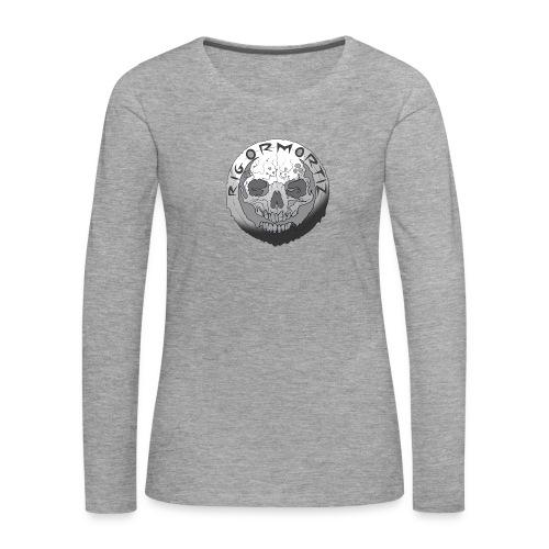 Rigormortiz Black and White Design - Women's Premium Longsleeve Shirt