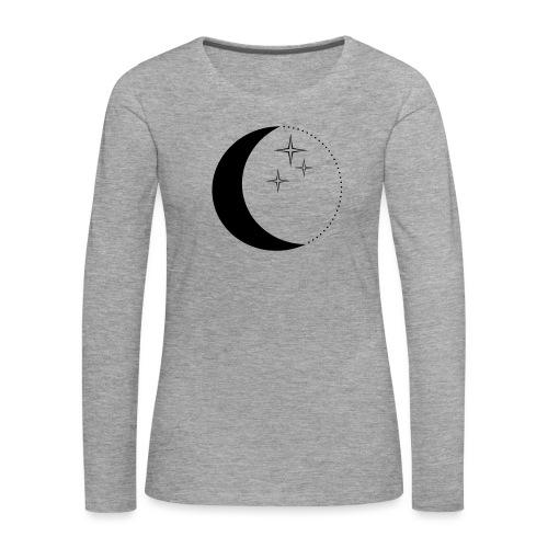 Moon and stars - Frauen Premium Langarmshirt