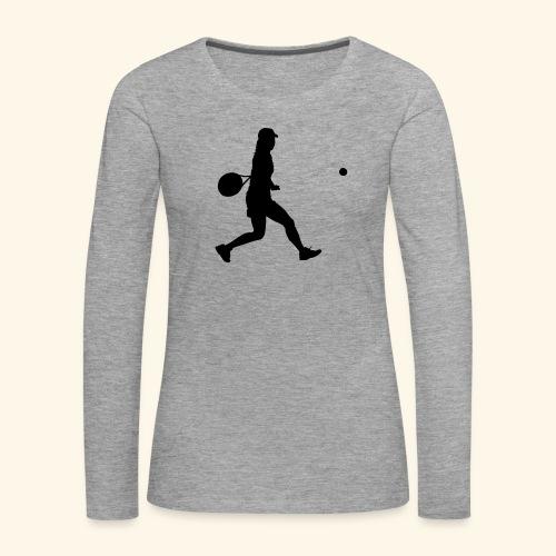 tennis woman 2 - T-shirt manches longues Premium Femme