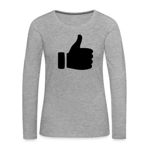 I like - gefällt mir! - Frauen Premium Langarmshirt