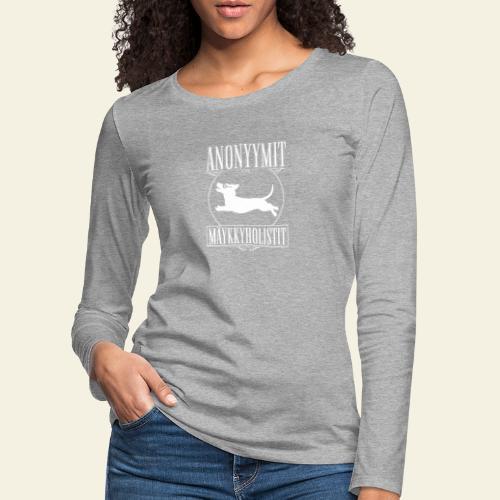 Mäykkyholisti LK - Naisten premium pitkähihainen t-paita