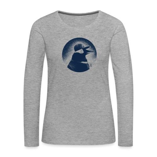 Pinguin dressed in black - Women's Premium Longsleeve Shirt