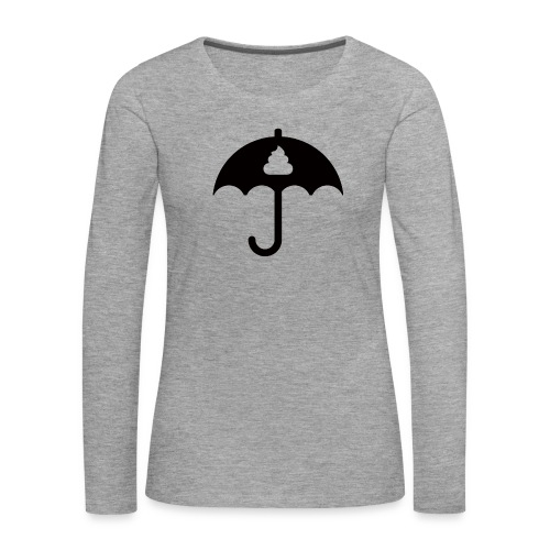 Shit icon Black png - Women's Premium Longsleeve Shirt