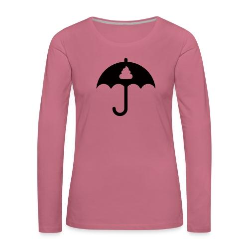 Shit icon Black png - Women's Premium Longsleeve Shirt