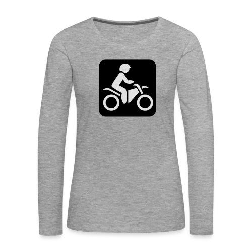 motorcycle - Naisten premium pitkähihainen t-paita