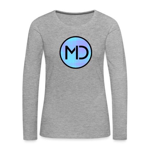 MD Blue Fibre Trans - Women's Premium Longsleeve Shirt